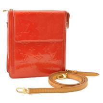 LOUIS VUITTON Vernis Mott Shoulder Bag Rouge M91137 LV Auth 10144 - $398.00