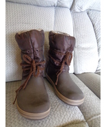 Crocs Womens Boots Shoes Brown Size 8 Pull On Mid Calf 11035 - $24.99