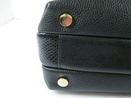 Michael Kors NEW $328 Black Leather Crossbody Messenger Hand Bag Pebbled Gold X image 7