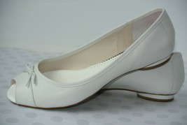 Clarks Artisan Womens Sz 11 M White Leather Open Toe Slip On Loafers Fla... - $24.74