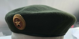 Genuine Russian Army Officer Olive Green Beret Military Original Uniform... - $31.40
