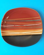"""Hometrends -- Bazaar Square Red -- 11"""" Dinner Plate -- Discontinued! - $12.00"""