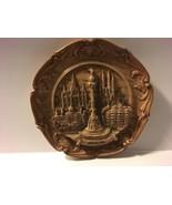 """Vintage Wood Resin 9 1/2"""" Plate Barcelona Spain - $47.45"""