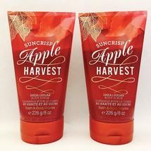 2 Bath & Body Works Suncrisp Apple Harvest Sugar & Shea Body Scrub 8 fl.oz - $29.69