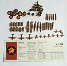 Axis & Allies 1984-87 U.S.S.R. Russian Game Pieces Ships Planes Tanks Soldier - $7.99