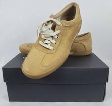 Rockport Adiprene Mens Casual Sneakers Sz 9.5 Cashaw Camel Suede Tan Lac... - $97.96