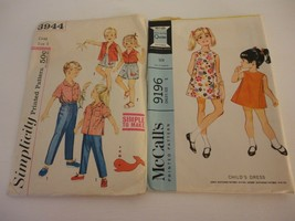 Lot of 2 Vintage 1960s Size 5 McCalls Simplicity patterns dress top shor... - $16.82