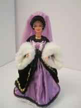 OOAK Collector Barbie Victorian Plum Princess Satin Velvet Ribbons Fur - $48.00