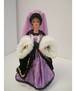 OOAK Collector Barbie Victorian Plum Princess Satin Velvet Ribbons Fur - $48.00