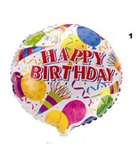 1ps 18-inch round Happy Birthday balloons holiday party decoration balloon toys - £1.42 GBP