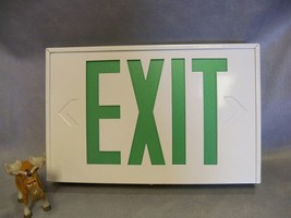EXIT Sign LXW3GELN Lithonia Green LED Titan White Metal w 90min Battery ... - $80.20