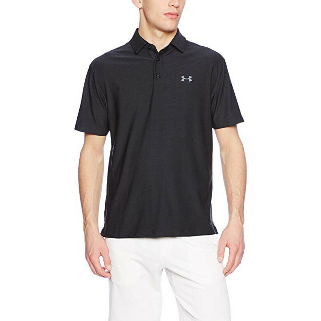 Primary image for Under Armour Men's Playoff Polo, Black (001)/Graphite, Small