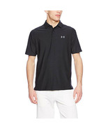 Under Armour Men's Playoff Polo, Black (001)/Graphite, Small - $38.59