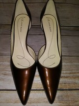 Anne Klein Shoes AKCHRISTA Bronze Heels Size  10M Please Read Description - $15.00