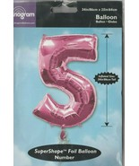 """Anagram Number """"5"""" size 34"""" x 25"""" SuperShape Foil Balloon - $12.58"""