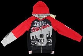 JOHN GALLIANO Boys Hoodie Sweatshirt Jacket Red... - $65.20