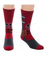 Deadpool Suit Up Costume Marvel Comics Adult Crew Socks - $7.99