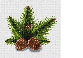 Pinecones Needlepoint Canvas - $39.60