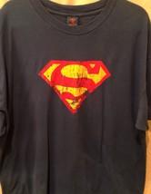 DC Comics Superman Distressed Logo Shield Men's T-Shirt XXL 2XL - $11.39