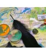 WITCHCRAFT ritual kit~ Wicca ~ pagan success & good luck kit+ candles wicca - $8.09