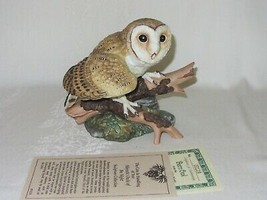 Barn Owl Hamilton Collection Maruri Majestic Owl Night Vtg Figurine 1986... - $39.59
