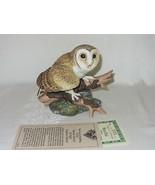 Barn Owl Hamilton Collection Maruri Majestic Owl Night Vtg Figurine 1986... - $39.59