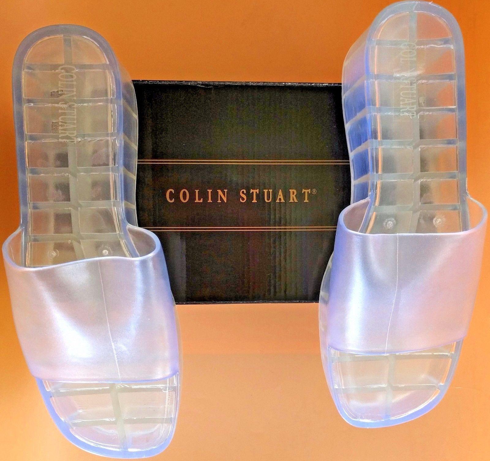 44fa11bf2a4038 Colin Stuart Victoria s Secret Women s Wedge Sandal Slides Clear Casey ...