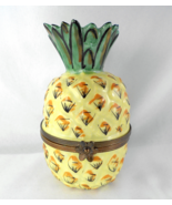 Limoges Box - Tropical Hawaiian Pineapple - Fruit - Peint Main - $79.00