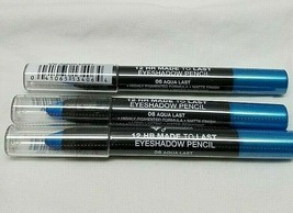 Jordana 12 Hr Made To Last Eyeshadow Pencil 06 Aqua Last Lot Of 3 - $9.89