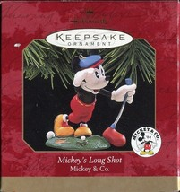 HALLMARK KEEPSAKE ORNAMENT ~ MICKEYS LONG SHOT ~ GOLF ~ MICKEY & CO ~ 19... - $4.45