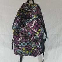 Tracker By Bentley Black Purple Paint Splash Geometric Backpack Bag Bookbag - $22.83
