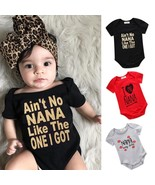 0-18M Baby Boy Baby Girl Summer Clothes Newborn Infant Baby Boy Girl Leter Rompe - $7.99