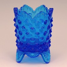 Vintage Fenton Art Glass Colonial Blue Hobnail Toothpick
