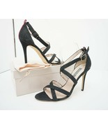 SJP Sarah Jessica Parker Strut Women's High Heels Sandals Black Sz 39.5 ... - $103.95