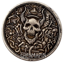 New Hobo Nickel Souls in Hell Hades Swimming around Lucifer Devil Casted... - $10.44