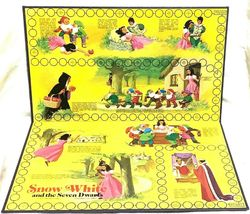 Vintage Snow White and the Seven Dwarfs Board Game Cadaco 1977 COMPLETE image 3