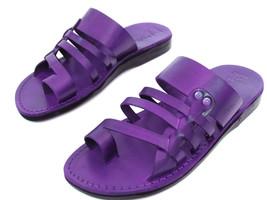 Leather Sandals for Men YAHEL by SANDALIM Biblical Greek Jesus Sandals R... - $46.47 CAD+