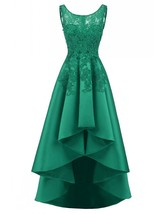 Women's Wedding Party Dress Hi-Low Sleeveless Lace Prom Dresses Cocktail Gowns - $119.43