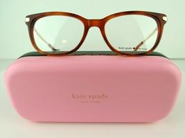 Kate Spade Jailene (Epz) Red Havana / Yg 50-17-140 Eyeglass Frames - $71.20