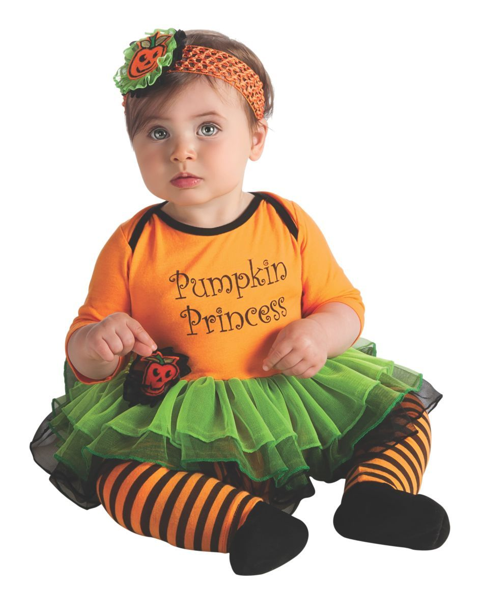 Primary image for Baby's Pumpkin Princess Halloween Costume 0-6 Months