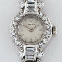 Longines Platinum & 14k White Gold Diamond Women's Dress Watch - $3,316.49