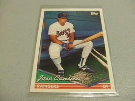 1994 Topps #80 Jose Canseco -Texas Rangers- - $3.12