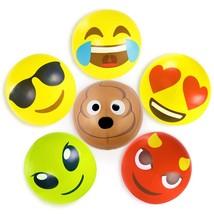 Beach Ball Game, 6pc 18in Emoji Set Kids Small Swim Toy Inflatable Beach... - £19.17 GBP