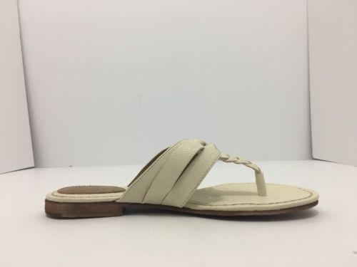 Frye Carson Twisted Off White Women's Flats Thong Sandals Size 7 M