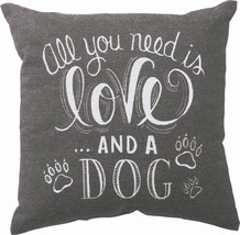 "All You Need is Love and a Dog Pillow Primitives by Kathy 10"" by 10"" Dog - $19.99"