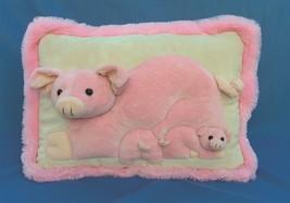"JAAG plush momma pig with babies ""3D"" huggable pillow. - $19.95"