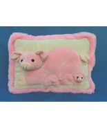"JAAG plush momma pig with babies ""3D"" huggable pillow. - $19.95"