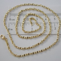 18K YELLOW GOLD CHAIN NECKLACE SAILOR'S OVAL NAVY LINK 23.62 IN MADE IN ITALY image 2