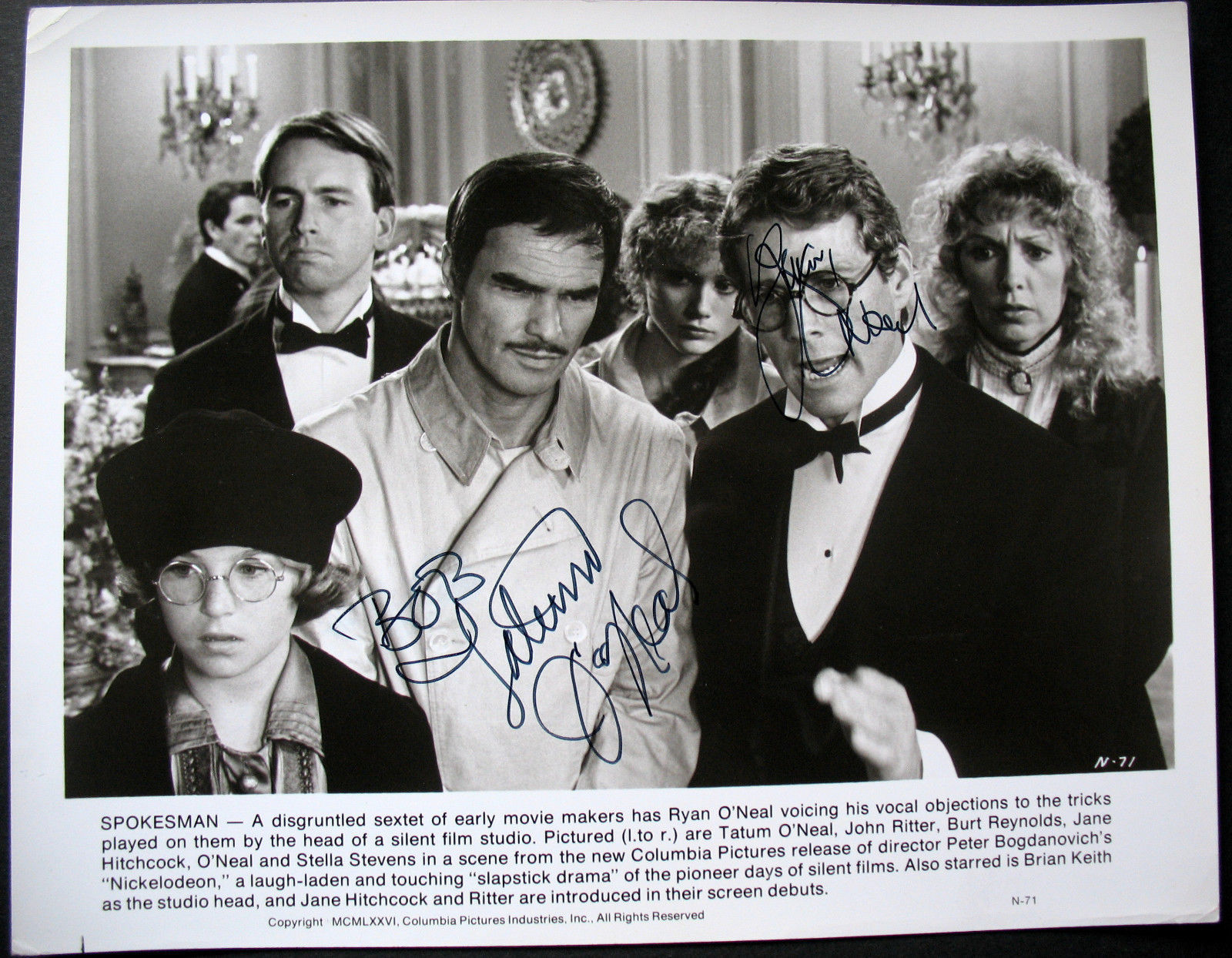 TATUM O NEAL,RYAN O NEAL (NICKELODEON) ORIGINAL SIGN AUTOGRAPH PHOTO