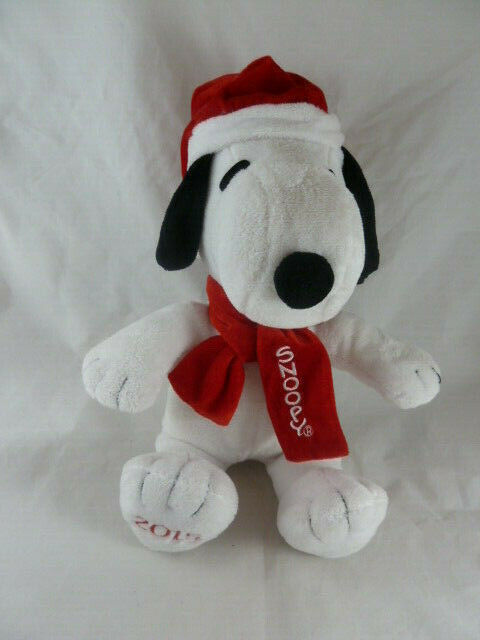 "Christmas Peanuts Snoopy Plush Toy 2015 Embroidered Name and date with music 13"" - $14.84"